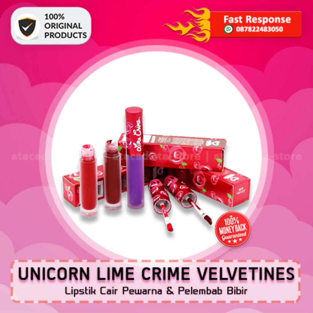 UNICORN LIME CRIME VELVETINES - Lipstik Cair Pewarna Bibir - Original