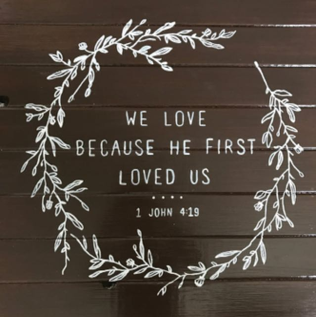 Wedding sign; verse