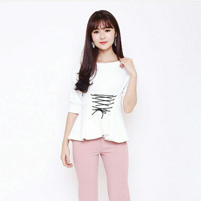 White peplum blouse