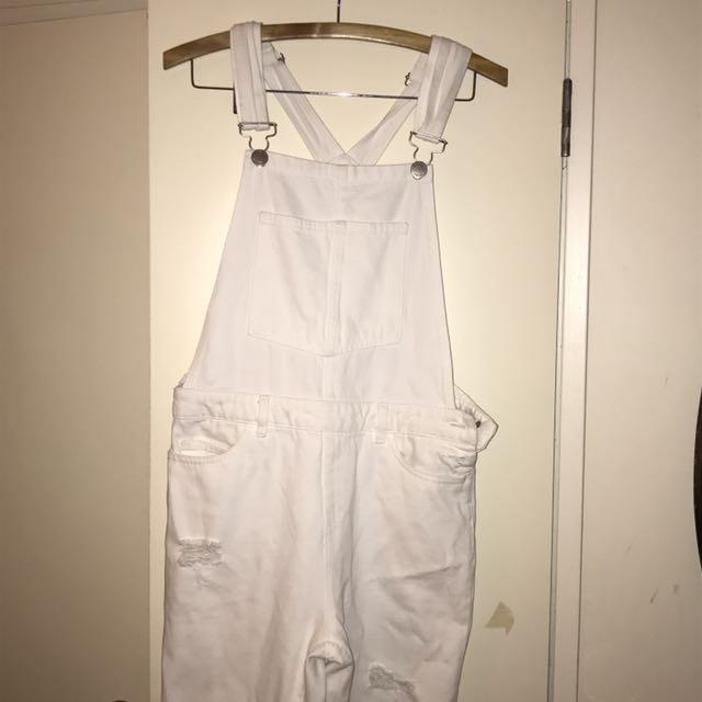 White glassons overalls
