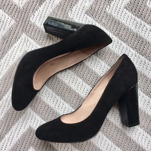 WITCHERY BLACK SUEDE HEELS