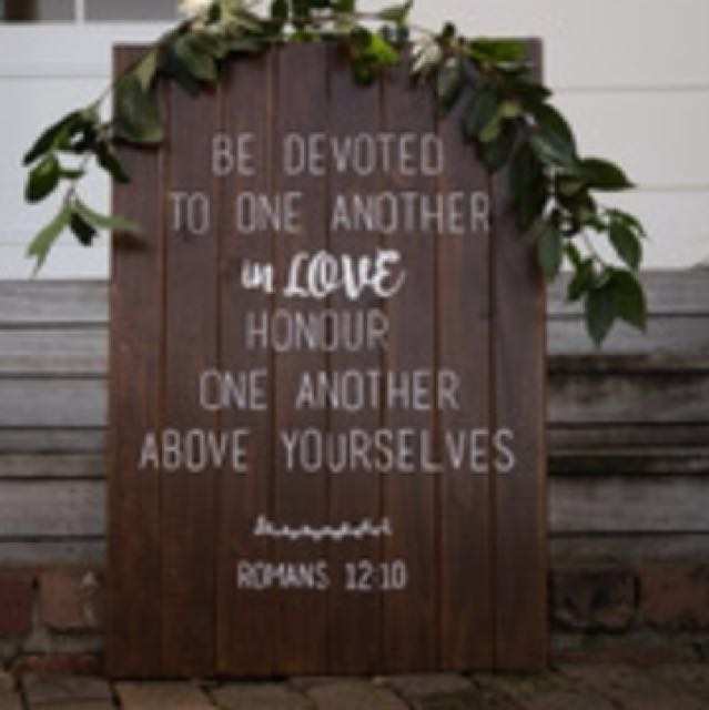 Wooden sign; verse