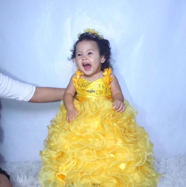Yellow Gown For Babies Babies Kids Girls Apparel On Carousell