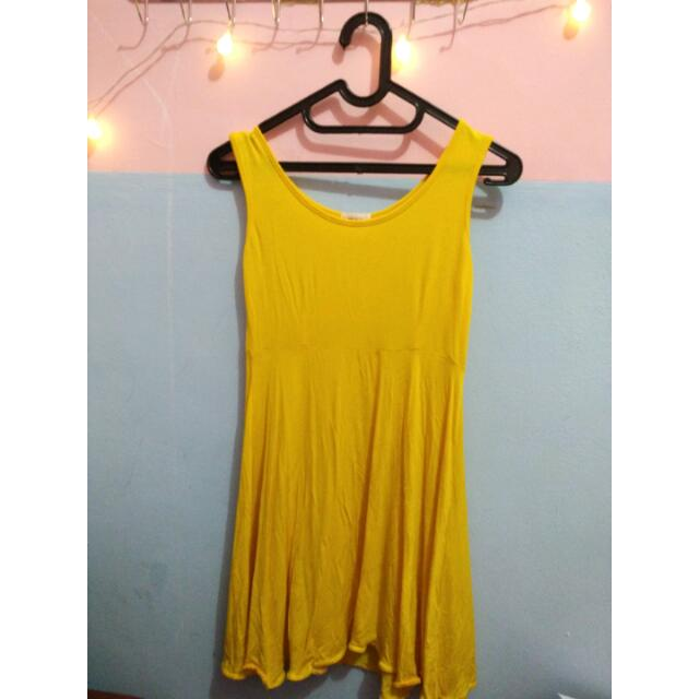 Yellow Simple Dress