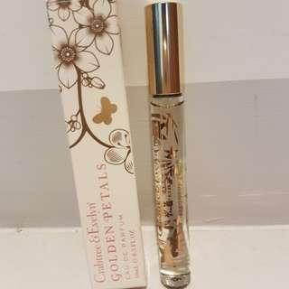 【過期出清】CRABTREE瑰柏翠黃金花瓣貼心香水10ml,滾珠隨身瓶,全新附盒,專櫃正品有中文標。