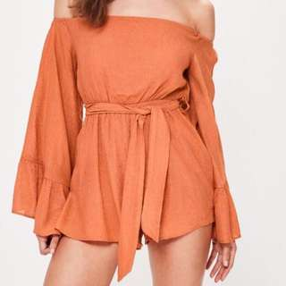 Misguided orange playsuit