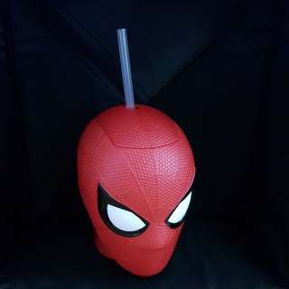 Spiderman Drinking Cup With Straw