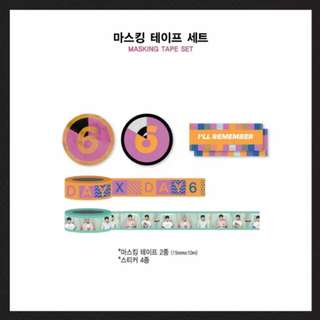 DAY6 (데이식스) (CONCERT IN October) OFFICIAL GOODS - Masking Tape Set / 마스킹 테이프 세트