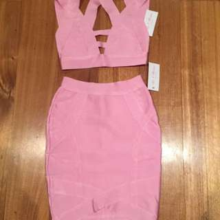 Pink matching two piece set