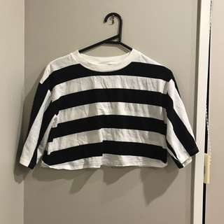 TOPSHOP STRIPED CROP