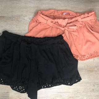 TWO shorts. Size S
