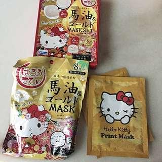BN Hello Kitty Horse Oil Masks