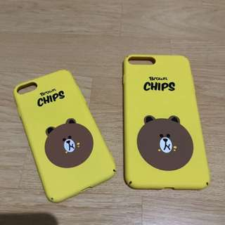 Cases/ Casing iphone 7 & iphone 7 plus. Chips LINE Character