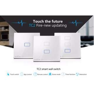 Free Delivery Broadlink TC2 Touch Panel Wall Switch 2 Gang