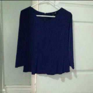 Forever21 Purple Peplum Top With Zipper Back