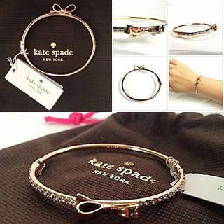 authentic kate spade love notes pave bangle