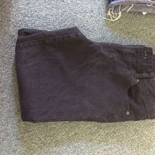 3-4 Black Just Jeans