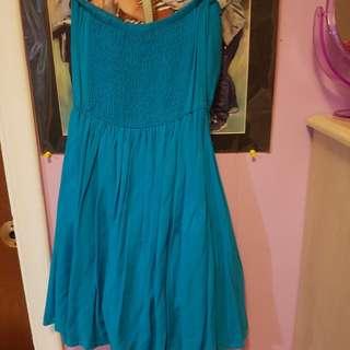 Simple Short Blue Dress