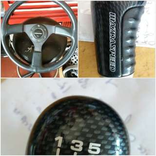 Gear knob&steering wheel mazda speed