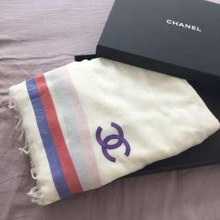 Chanel 絲巾 圍巾 批肩 香奈兒 真品 2017春夏