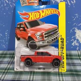 Hot wheels '15 Ford F-150 Red ORI!