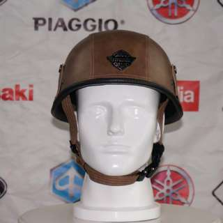 Leather Harley Davidson world war 2 Nazi inspired helmet
