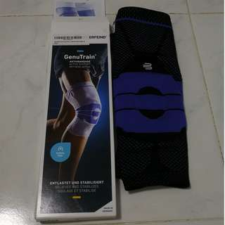 BNIB Bauerfeind GenuTrain Knee Support - Black Size 5