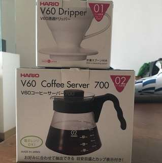 Hario V60 Coffee Server n Dripper