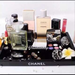 CHANEL PERFUME AND MAKE UP VANITY MEDIUM SIZE TRAY