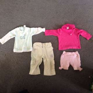 Size 0 girl clothes