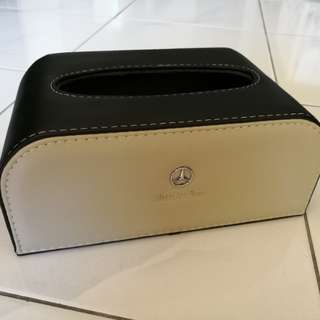 Mercedes Leather Tissue Box