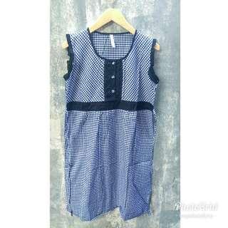 Checkerbox Dress - Black
