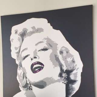Marilyn Monroe IKEA painting (with Purple Instead Of Red)
