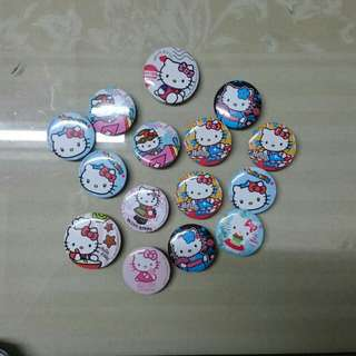 Hello kitty badge / pins