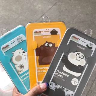WE BARE BEARS X MINISO Tempered Glass