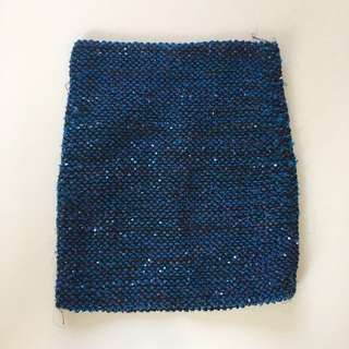 Gorgeous glittering blue mini skirt size 6
