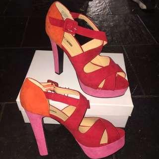 Strappy Platform Multi-Coloured Heels