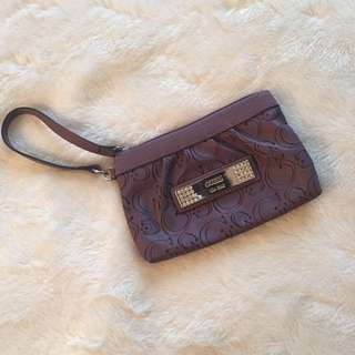 Guess Purple Wristlet