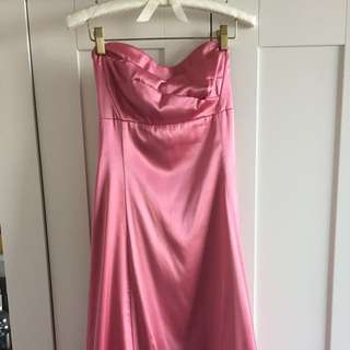 Silk Pink Le Chateau Dress