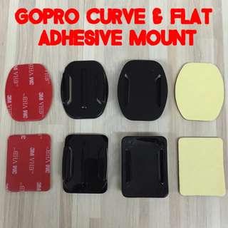 #1212YES TGP050 GoPro Flat Curved Adhesive Mount