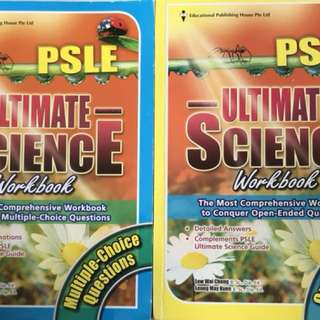 PSLE Ultimate science MCQ workbook and open ended
