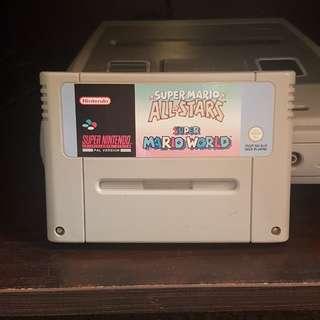 Super Mario All Stars and Super Mario World SNES