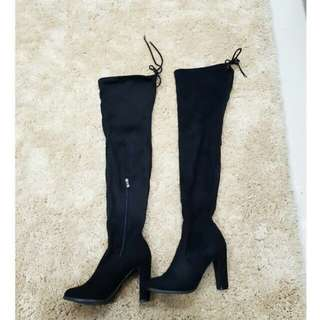 Size 8 over the knee thigh boots