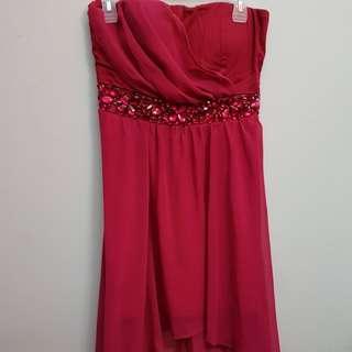 fuchsia pink dress