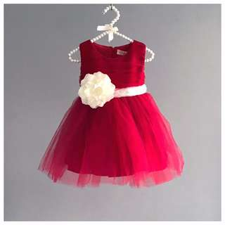 ee2aceb4c4f Carla Wine Red Flower Girl Dress  Birthday Dress  Party Dress  Graduation   Performance  Recital  Tutu Dress  With Flower  Formal Dress  Gown  Frock  for ...