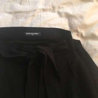 American Apparel Crepe Wrap Skater Skirt