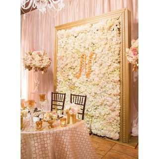 Cream and Blush Chanel Inspired Wedding Decorations
