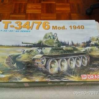 景品中古軍事坦克模型,DRANGON 威龍T34/76 1:35 Tamiya Fujimi Hasegawa Revel Italeri Dragon Bandai