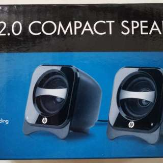 全新 HP Compact 2.0 Speakers USB 喇叭