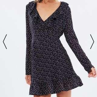 BNWT Lulu + Rose Navy Ruffle Dress